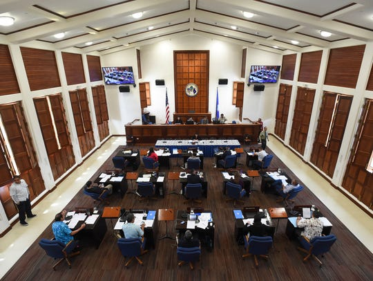 The 34th Guam Legislature during a session at the Guam