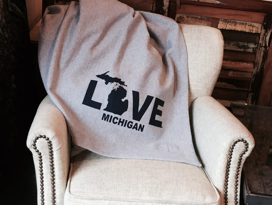Michigan Love throw, $39.99