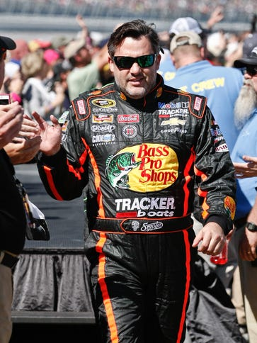 Tony Stewart earned his first top-five finish since