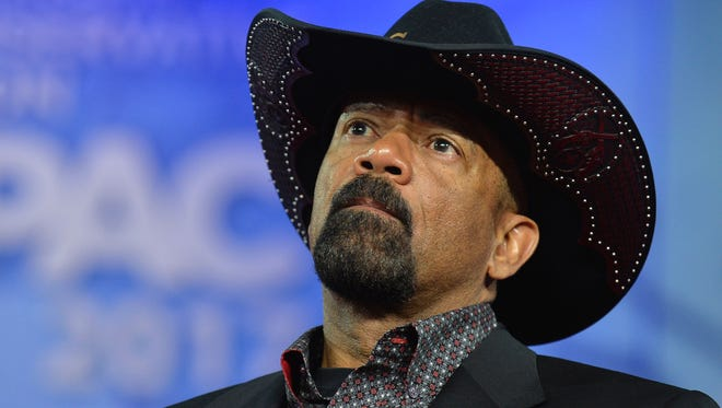 Milwaukee County Sheriff David A. Clarke Jr. listens to remarks in February during the Conservative Political Action Conference in Maryland.