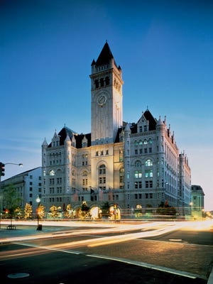 Donald Trump will turn the Old Post Office Pavilion in Washington, D.C., into a 270-room luxury hotel.