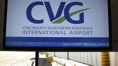 A sign at Cincinnati/Northern Kentucky International Airport