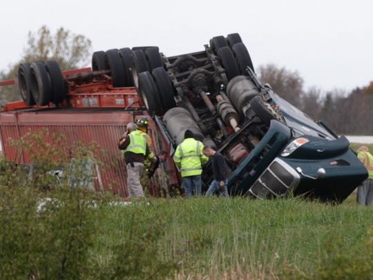 A semi rollover on I-43 near highway 23 caused the I-43 southbound ramp to be closed for several hours around rush-hour on Tuesday.