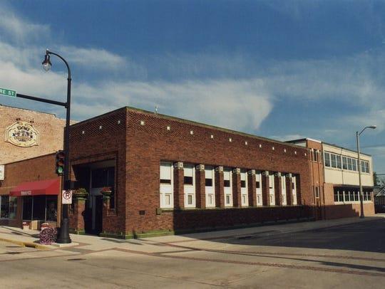 The Adams Building in Algona, Iowa, built in 1913,