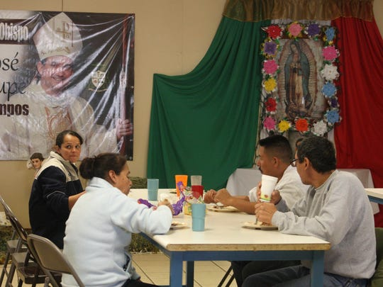 Migrants are sheltered by the Catholic Church at Casa