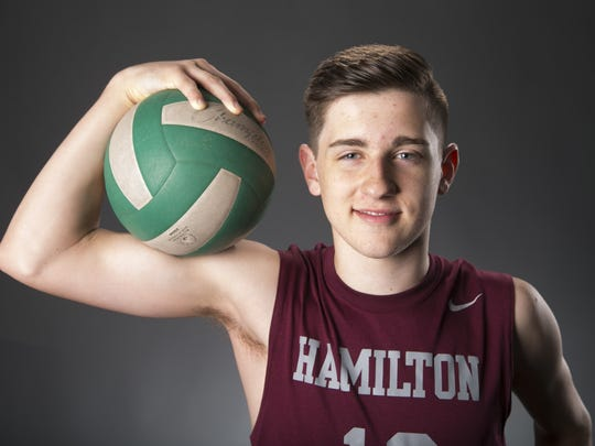 Kenny Silvestro, a Chandler Hamilton senior volleyball player, is a May Athlete of the Month runner-up.