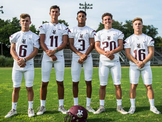 Vermilion Catholic's offensive lineup includes (from