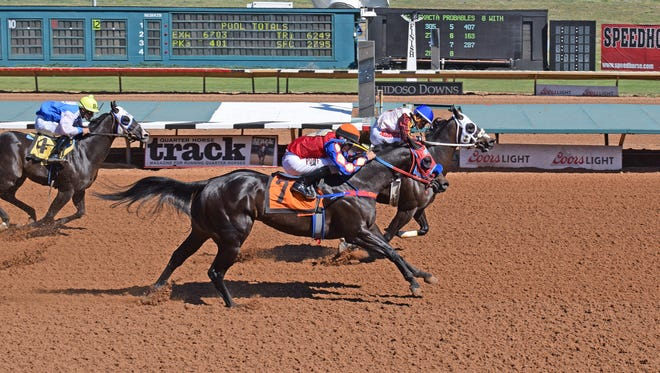 Maxx setting the fastest-qualifying time to the $48,510 Adequan Ruidoso Downs Derby Challenge.