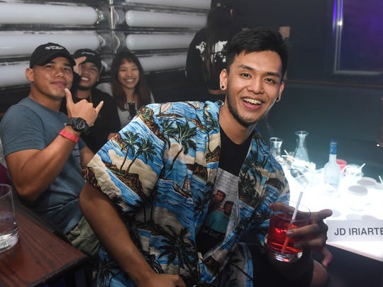 "Local singer Jed Antonio parties with friends during EFFN Season 2 ""The Grass is Greener"" at The W in Tumon, July 20, 2018."