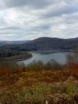 View from the trail over the Pepacton Reservoir.