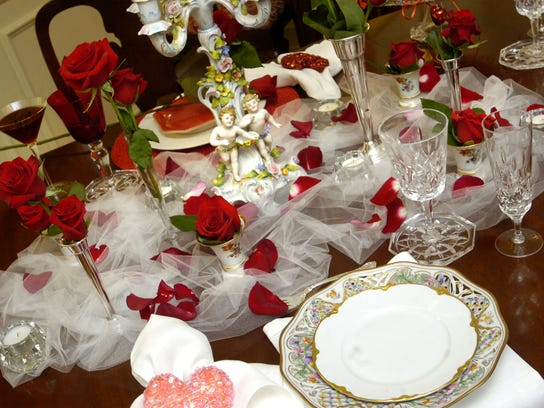Elaborate table setting.