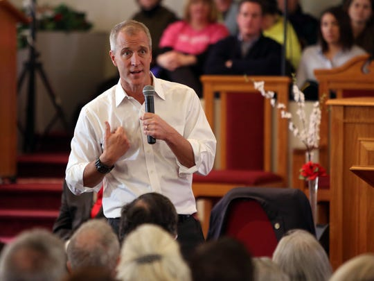 U.S. Rep. Sean Patrick Maloney answers questions at a forum in Beacon in this file photo.