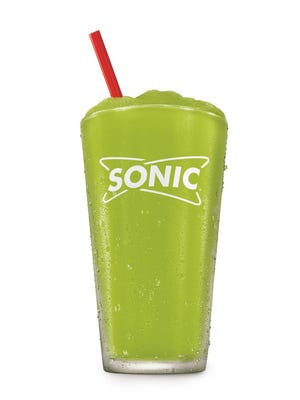 This is Sonic's new pickle juice slush, debuting this summer.