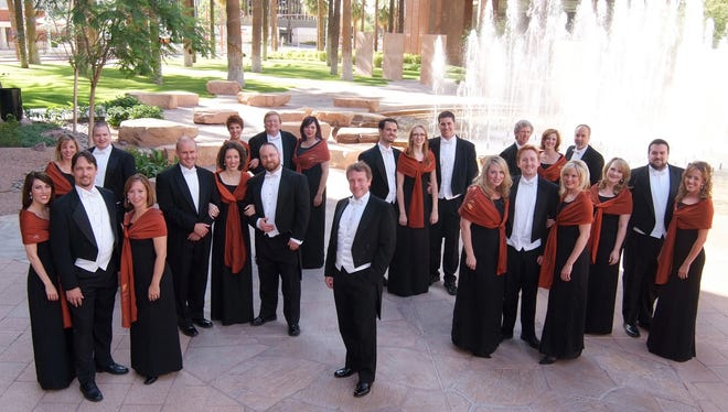 Maestro Charles Bruffy (center) and the Phoenix Chorale.