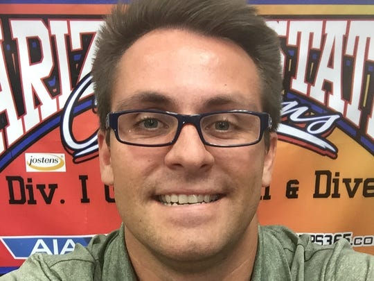 Scottsdale Chaparral's girls swimming coach Richie Krzyzanowski is a finalist for the 2016 Arizona Sports Awards Coach of the Year award.