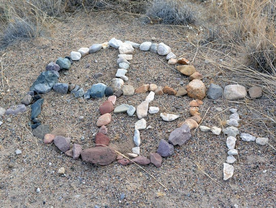 This medicine wheel was artist Kathy Morrow's first
