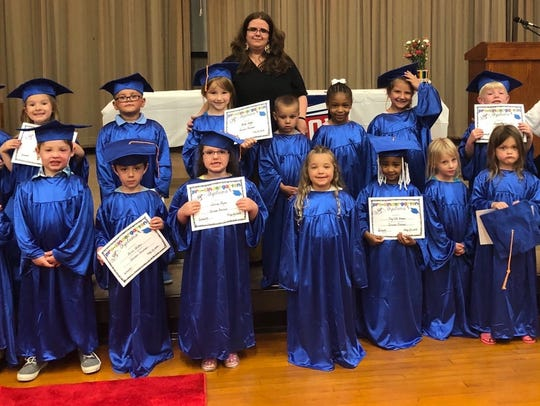 A Muncie Community Schools pre-school graduating class