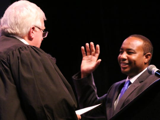 Nicholas Brown is sworn in Ward 5 Councilman during