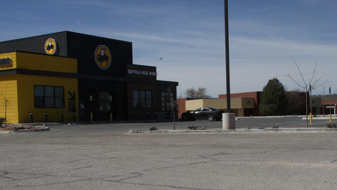 A parking lot that is normally full with customers is seen empty on, as the fire marshal was forced to shut down the restaurant for not being up to code.