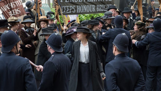 "Carey Mulligan plays working-class voting rights activist Maud Watts in ""Suffragette."""