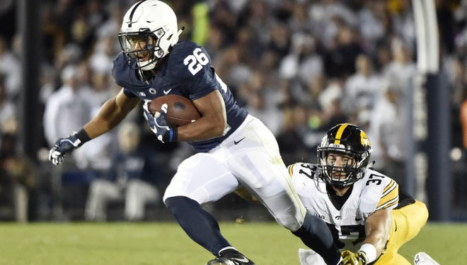 Saquon Barkley is the most rare talent and focal point of Penn State's stunning surge through the national rankings. He changes games in a flash, like he did on this first-half touchdown run against Iowa.