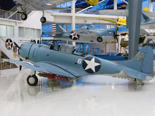 The SBD-2 Dauntless was recovered from Lake Michigan