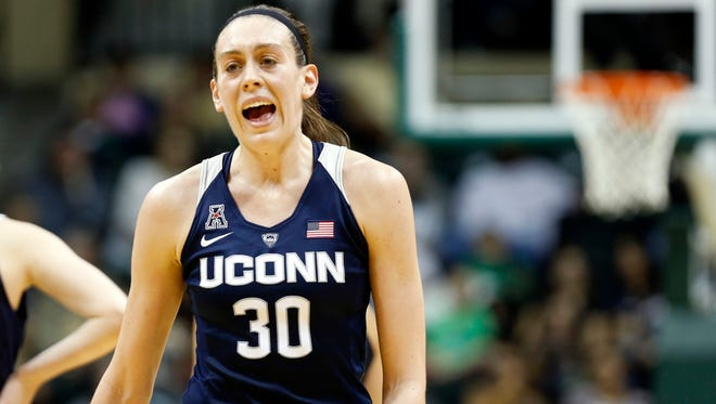 Breanna Stewart is trying to become the first player to win four national titles when UConn opens the NCAA tournament this week.