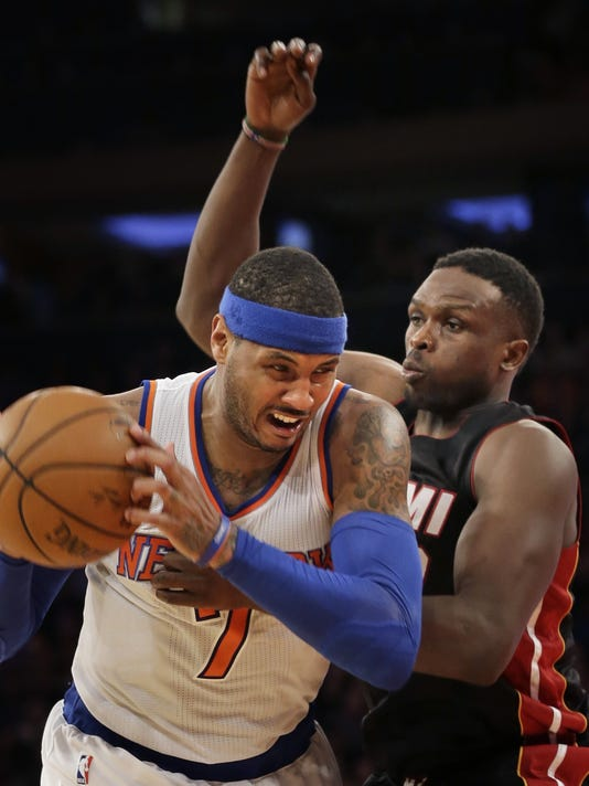 Luol Deng, Carmelo Anthony
