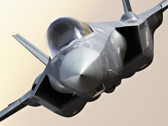 F35 Fighter jet close up