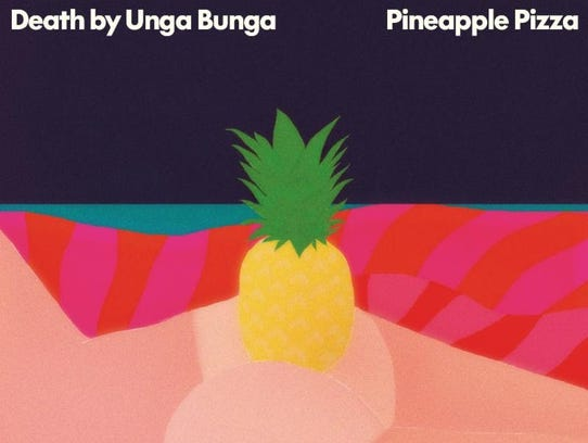 Death By Unga Bunga's Pineapple Pizza album cover