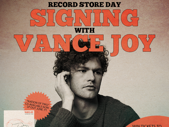 Vance Joy will be signing autographs for Record Store