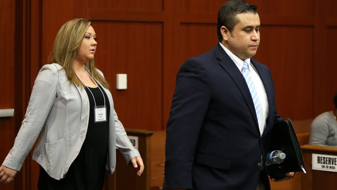Shellie Zimmerman arrives at Seminole circuit court June 20, 2013, in Sanford, Fla., with her husband, George.