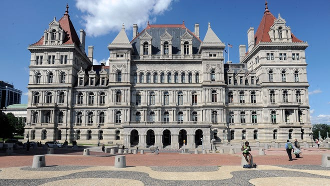 Exterior view from the plaza of the New York state Capitol on Wednesday, June 28, 2017, in Albany, N.Y.