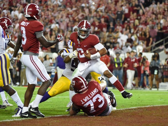 NCAA Football: Louisiana State at Alabama