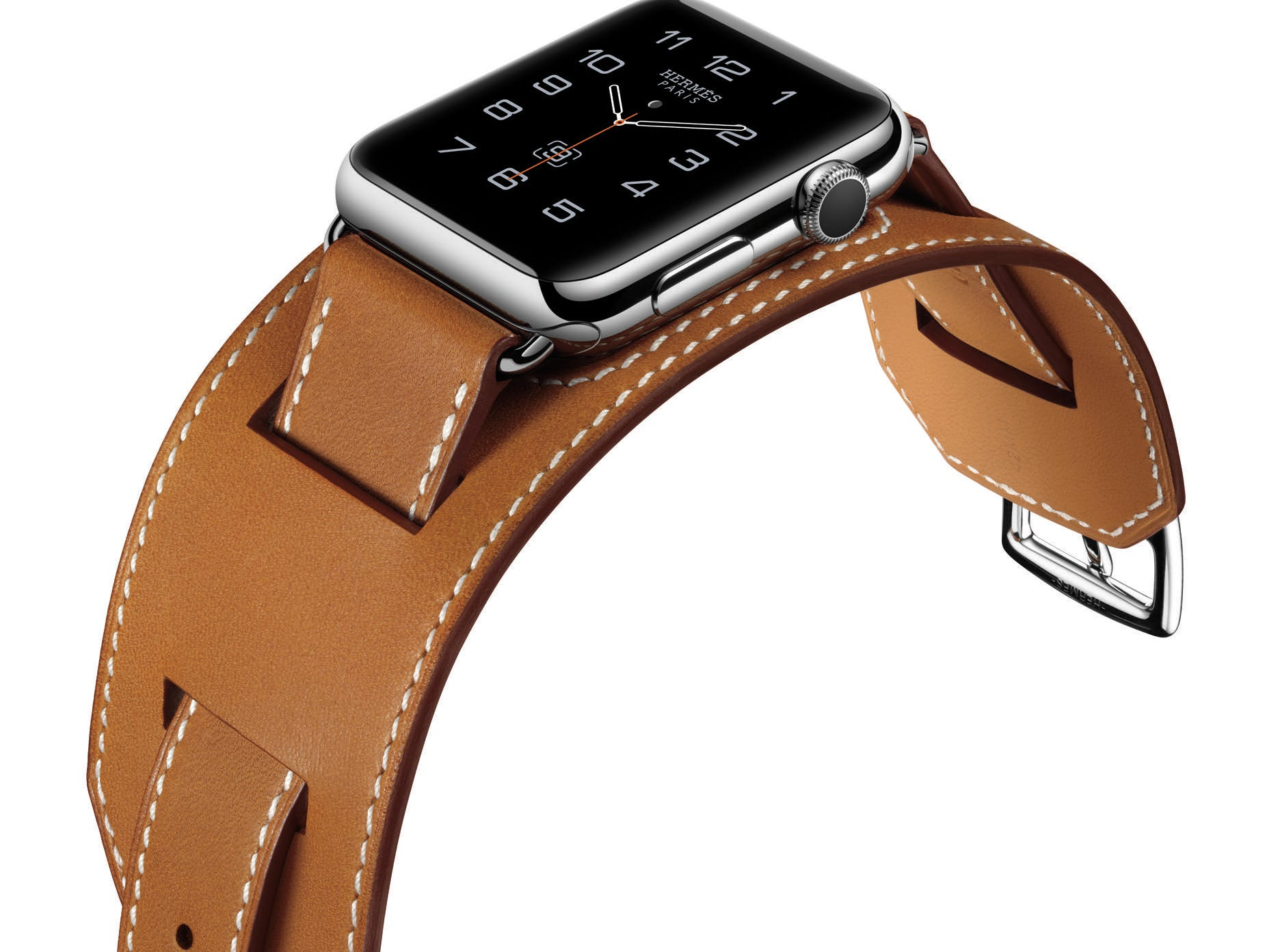 Apple Watch with Hermes band.