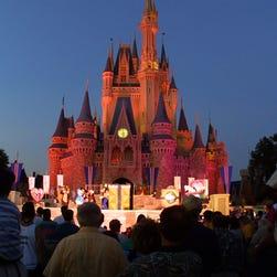 Cinderella's castle at Walt Disney World's Magic Kingdom in Orlando, Fla.