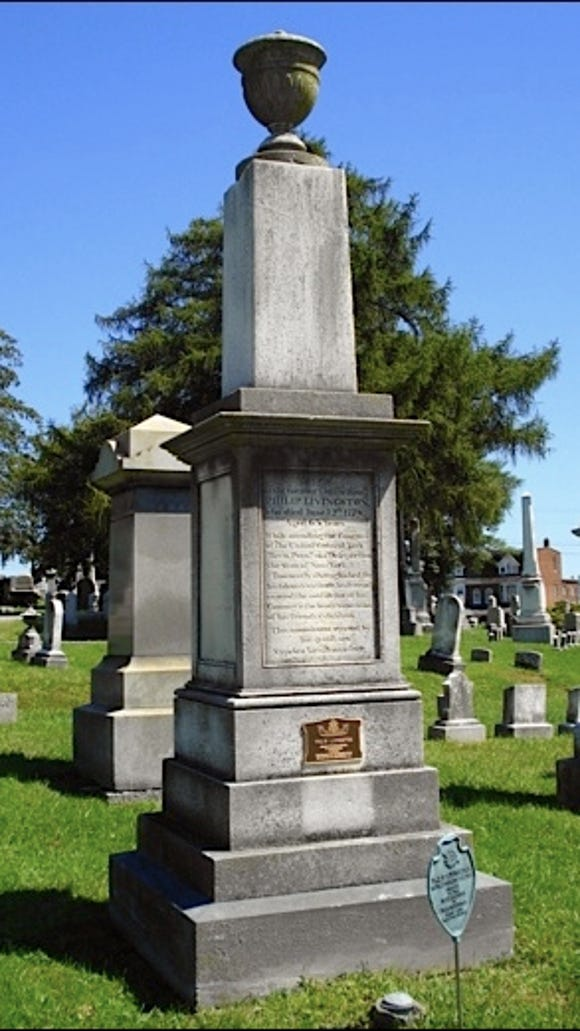 Philip Livingston monument in Prospect Hill Cemetery, Manchester Township, York County, PA (S. H. Smith)
