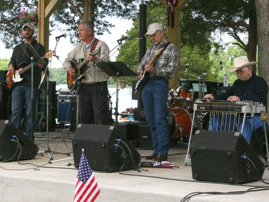 The Wallace Family Band performs during the 2014 Eagle