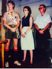 Ronald Smith as a 15-year-old Eagle Scout.