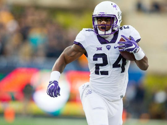 OSU graduate transfer Trevorris Johnson ran for 789 yards and eight touchdowns in 36 games for TCU.