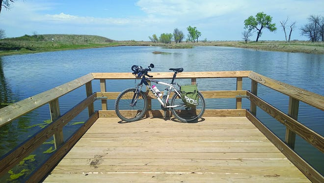 Pratt columnist and his trusty bicycle made a stop at the Kids Fishing Pond, Quivira National Wildlife on a recent stay-cation in the area.