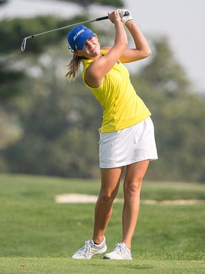 Delaware senior Andi Slane is two-time CAA individual champ and leads the CAA team champion Blue Hens to the NCAA Regionals.
