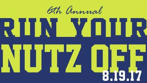 The Run Your Nutz Off 2017 event takes place on Saturday.