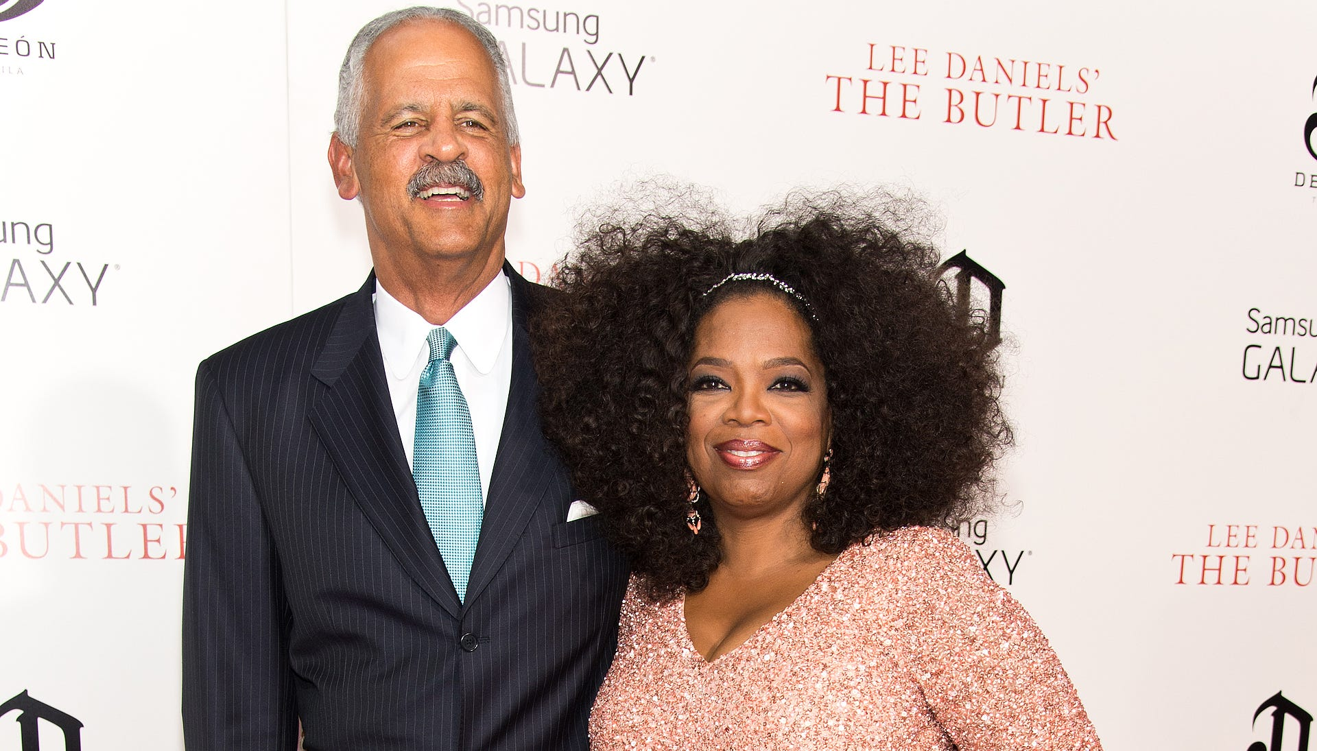 Oprah makes a glamorous -- and rare -- red carpet appearance with longtime love Stedman Graham for the NYC premiere of 'The Butler' on Aug. 5. She's in a blush sequined dress and coordinating clutch. And, oh yeah, she happens to be dripping in Lorraine Schwartz jewels.