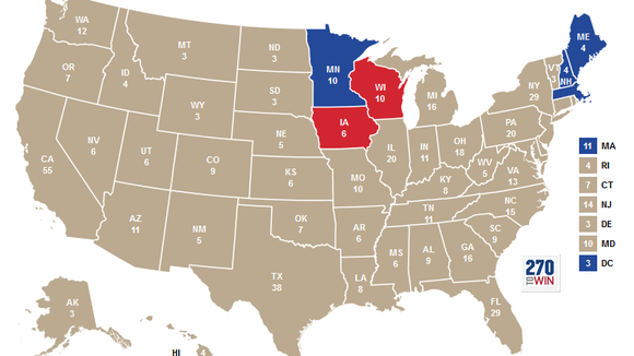 Blue states? Red states? Most of America went khaki.