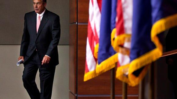 AP BOEHNER RESIGNS A USA DC