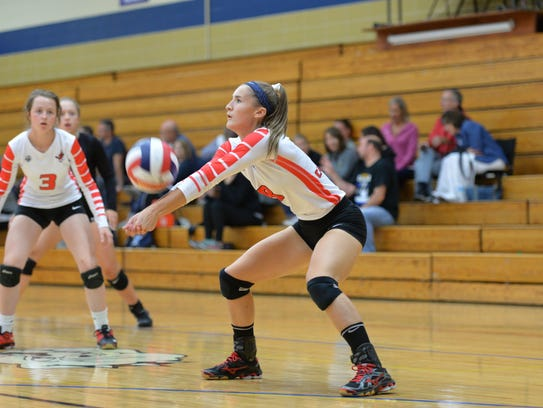 Pacelli's Paige Hintz helped her team to a CWC-South