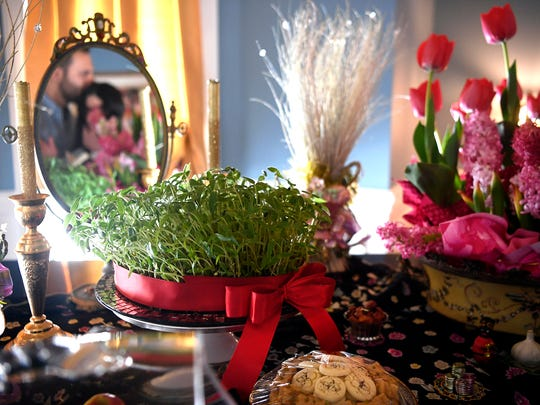 Sabzeh, the grass, is one of the main objects on display of the Haft-Seen, symbolizing rebirth.
