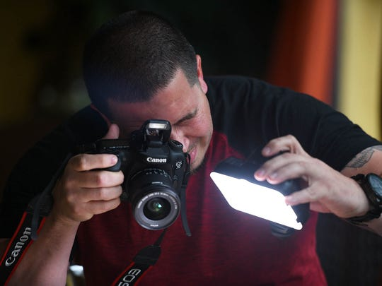 Photo of Brian Juarbe, a popular food instagrammer from Bergen County, photographed at Azúcar Cuban Cuisine in Closter on 9/19/17.