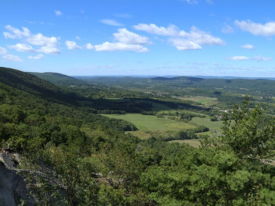 "A view of Vernon Valley from above. The Appalachian Trail headed up to Pinwheel Vista is truly a ""Stairway to Heaven"" full of beautiful terrain and amazing views. The cooler temperatures on September 14th, 2015 made a hike up the trail a great pleasure."